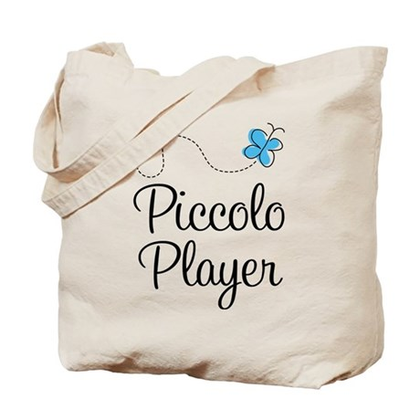 Butterfly Piccolo Player Tote Bag