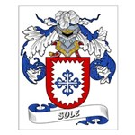 Sole Family Crest Small Poster