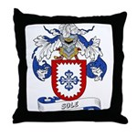 Sole Family Crest Throw Pillow