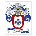 Soler Family Crest Small Poster
