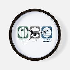 Eat Sleep Market Research Wall Clock