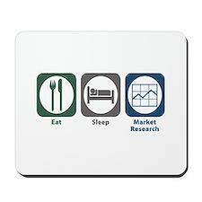 Eat Sleep Market Research Mousepad
