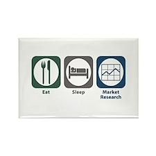 Eat Sleep Market Research Rectangle Magnet (100 pa