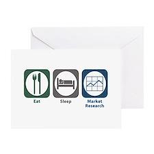 Eat Sleep Market Research Greeting Card