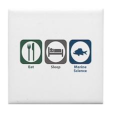 Eat Sleep Marine Science Tile Coaster
