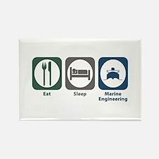 Eat Sleep Marine Engineering Rectangle Magnet