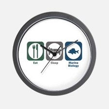 Eat Sleep Marine Biology Wall Clock