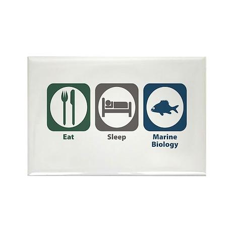 Eat Sleep Marine Biology Rectangle Magnet (100 pac