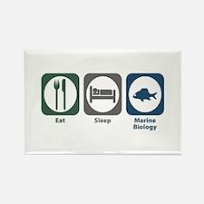 Eat Sleep Marine Biology Rectangle Magnet