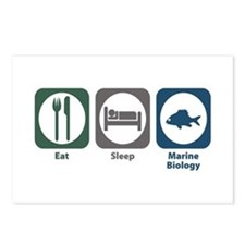 Eat Sleep Marine Biology Postcards (Package of 8)