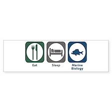 Eat Sleep Marine Biology Bumper Bumper Sticker