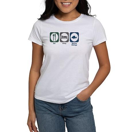 Eat Sleep Marine Biology Women's T-Shirt
