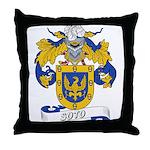 Soto Family Crest Throw Pillow
