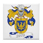Soto Family Crest Tile Coaster