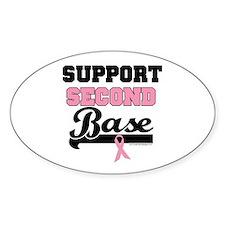 Support 2nd Base (v1) Oval Sticker (10 pk)