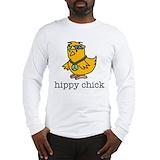 Hippy chick Long Sleeve T Shirts