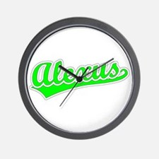 Retro Alexus (Green) Wall Clock