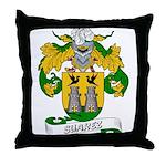 Suarez Family Crest Throw Pillow