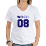 WEIGEL 08 Women's V-Neck T-Shirt