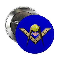 Happy Mason Masonic Button