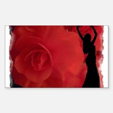 Rose Belly Dancer Rectangle Decal