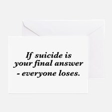 Suicide final answer Greeting Cards (Pk of 10)
