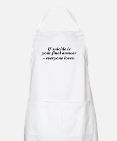 Suicide final answer Apron