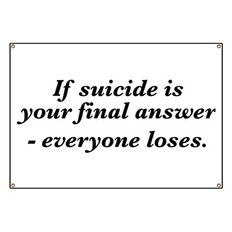 Suicide final answer Banner