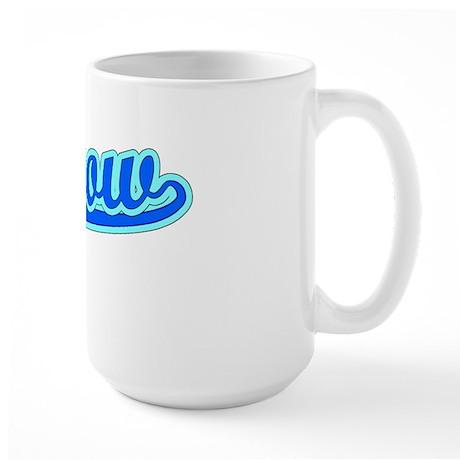 Retro Morrow (Blue) Large Mug