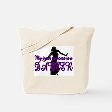 Princess Dancer Silhouette Tote Bag