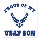 Air force mom Square Car Magnets