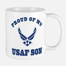 Air Force Son Proud Mom Dad Mugs