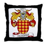Tejedor Family Crest Throw Pillow