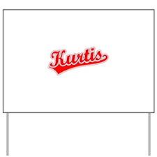 Retro Kurtis (Red) Yard Sign