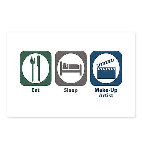Eat Sleep Make-Up Artist Postcards (Package of 8)