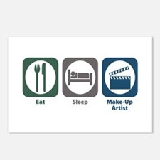 Eat Sleep Make-Up Artist Postcards (Package of 8)