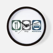 Eat Sleep Maintenance Wall Clock