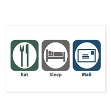 Eat Sleep Mail Postcards (Package of 8)