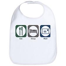 Eat Sleep Mail Bib
