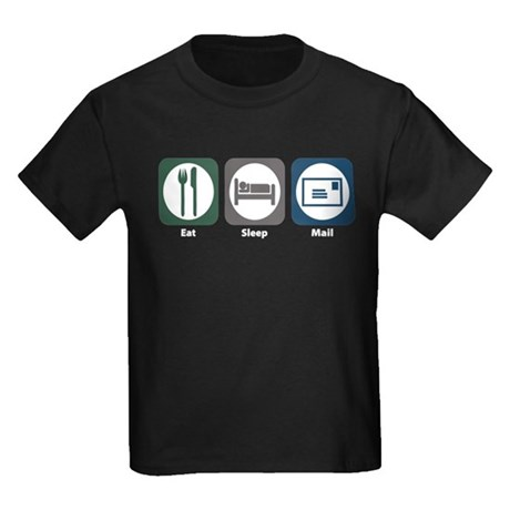 Eat Sleep Mail Kids Dark T-Shirt