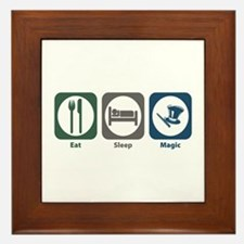 Eat Sleep Magic Framed Tile