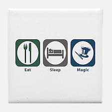 Eat Sleep Magic Tile Coaster