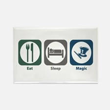 Eat Sleep Magic Rectangle Magnet