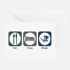 Eat Sleep Magic Greeting Card