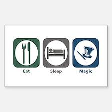 Eat Sleep Magic Rectangle Decal