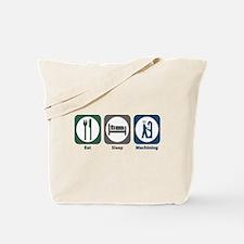 Eat Sleep Machining Tote Bag