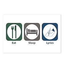 Eat Sleep Lyrics Postcards (Package of 8)