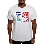 Shark Attacks Bite! Survivor? Ash Grey T-Shirt