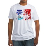 Shark Attacks Bite! Survivor? Fitted T-Shirt