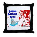 Shark Attacks Bite! Survivor? Throw Pillow